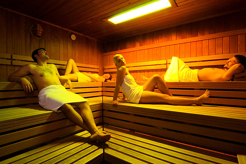 Textile Sauna At The Spa Hotel Water Worlds In The Bavarian Forest